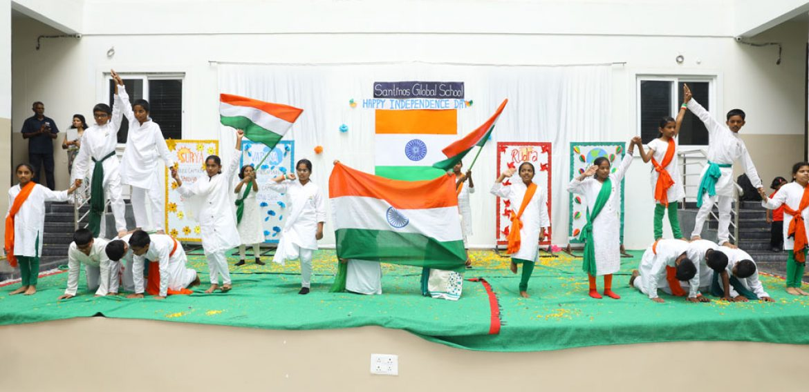 Independence day celebrations at school